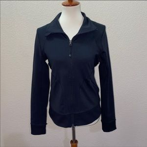 Zella Black Zip-Up Jacket Size Medium